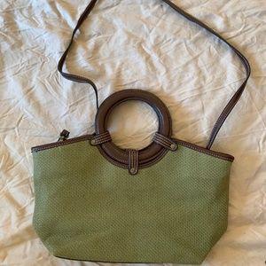 Croft & Barrow Olive Green Woven Bag